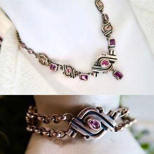 Sterling 2-Pc Ross Simons Necklace Bracelet Set
